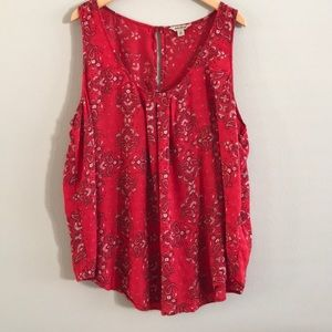 Lucky Brand Red Blouse
